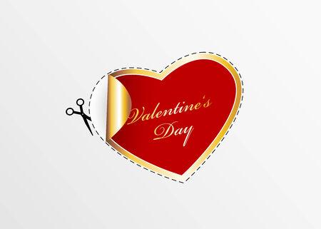 Red valentine heart. Stock Vector - 8643317