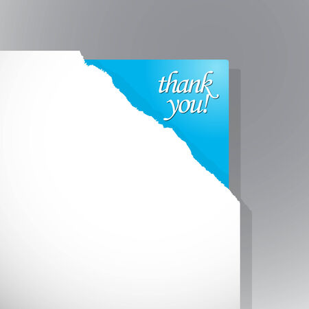 Thank you sign in the corner. Vector