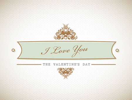 Old stylish Valentine's sign.  Stock Vector - 8840310