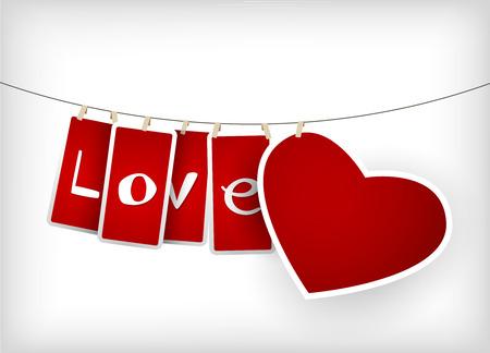 Valentine hanging labels. Stock Vector - 8840309