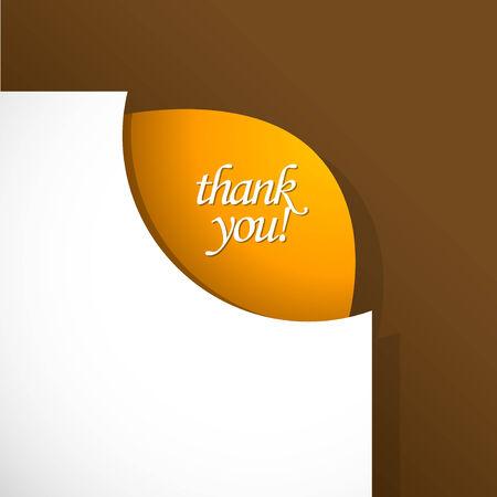 te: Signo de agradecimiento en la esquina.
