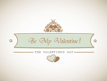 Old stylish Valentines sign.  Vector