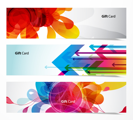 flechas: Conjunto de tres banners abstractas.