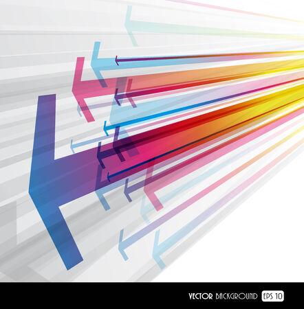 flecha direccion: Resumen de fondo con flechas de color.