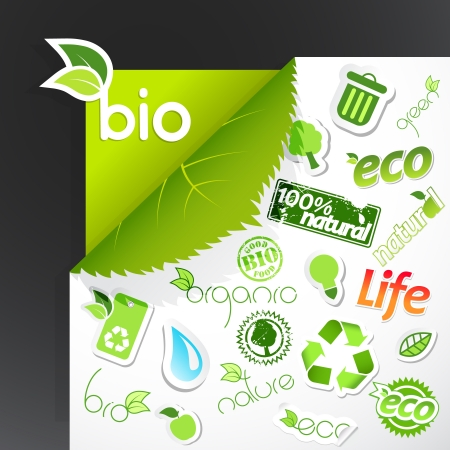 Set of ecology icons. Vector art Vector