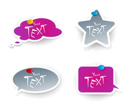 Set of purple-grey stickers. Stock Vector - 9185288
