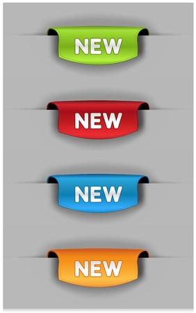 marcadores de libros: Conjunto de marcadores de colores.