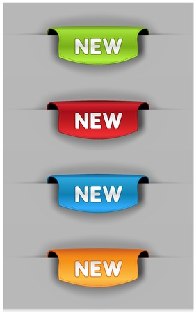 Set of colored bookmarks. Vector