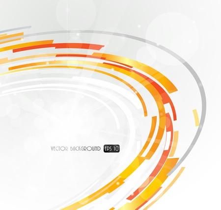 Abstracta futurista naranja círculo 3D.