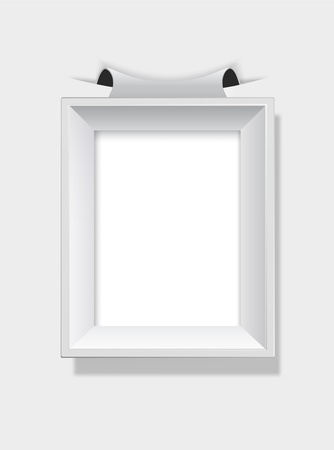 Empty grey picture frame. Stock Vector - 9632454