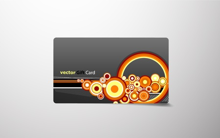 Colored gift card. Vector