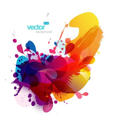Abstract colorful splash illustration.