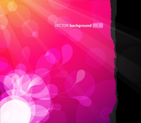 Abstract background with flower in the corner. Vector