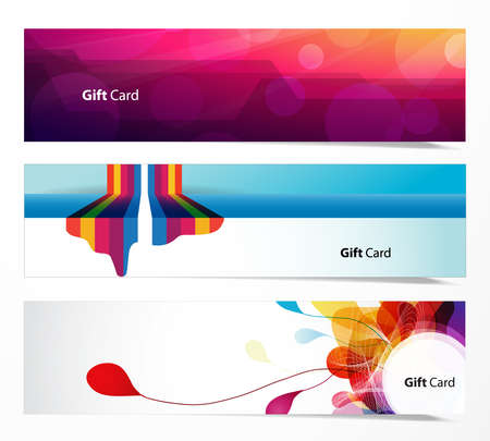 Set of abstract web banners. Illustration
