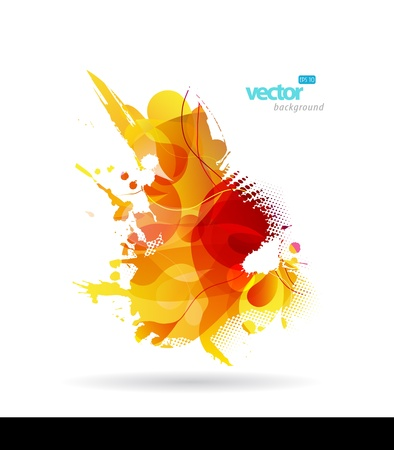 Abstract colorful splash illustration. Stock Vector - 9829467