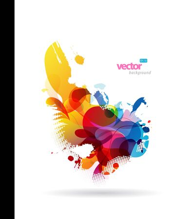Abstract colorful splash illustration. Vector