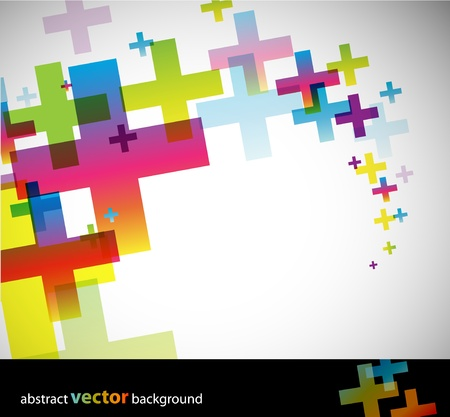 grunge cross: Colored abstract background.