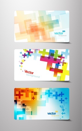 Set of abstract colorful cross variations. Vector