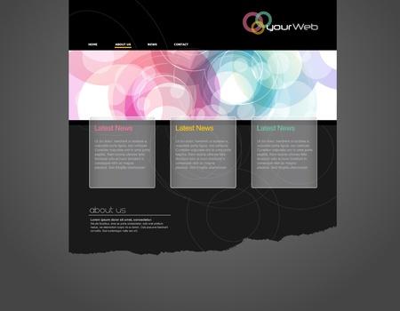 Website template. Stock Vector - 10221696