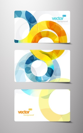 Set of gift cards with circles. Vector