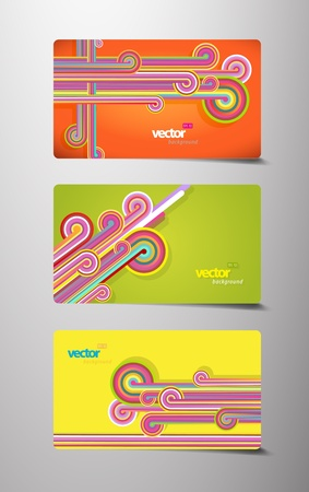 Set of abstract gift cards. Vector