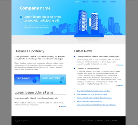 City website template. Stock Vector - 10300276