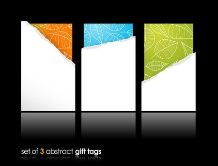 environnement entreprise: Jeu de cartes-cadeaux remplis de larmes. Illustration
