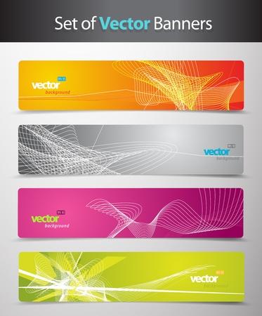 Set de têtes abstraites colorées web.