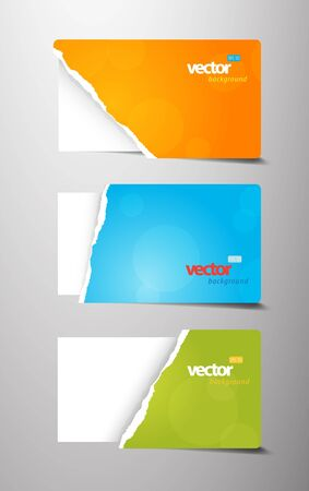 teared: Set of teared gift cards.
