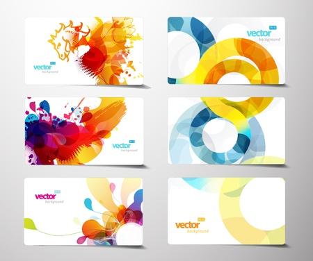 Satz von abstrakt colorful platsch Geschenk-Karten.