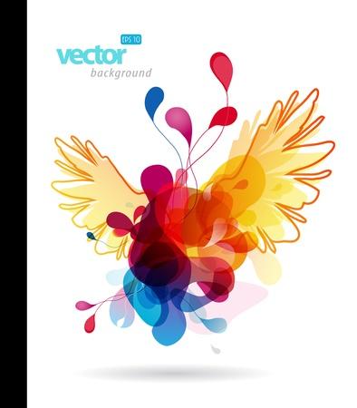 spectrum: Abstract colorful splash illustration.