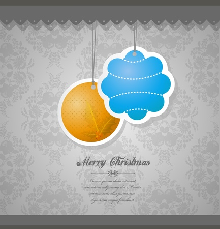 opening party: Christmas decoration on flower wallpaper.