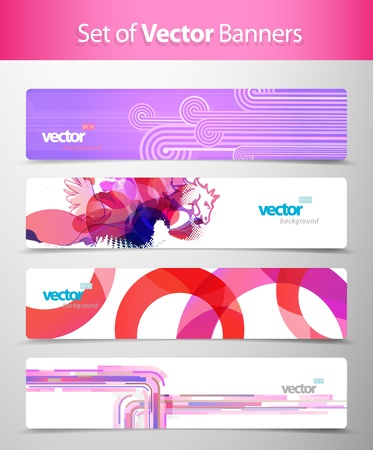 Set of abstract colorful web headers. Stock Vector - 10698043