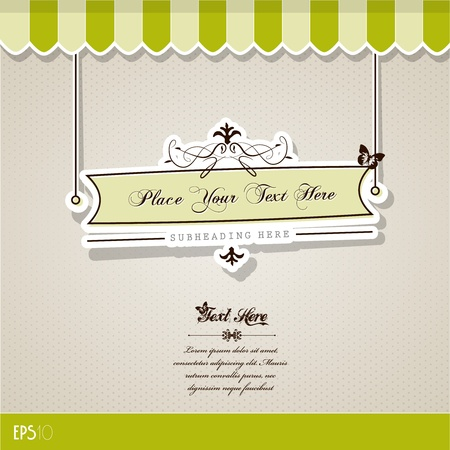 a signboard: Vintage vector background with place for your text.