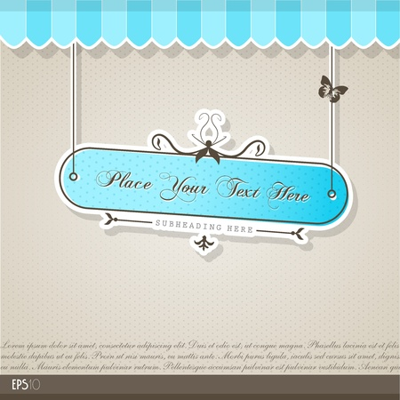 Vintage vector background with place for your text. Vector
