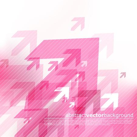 directions: Abstracte roze achtergrond met pijlen.  Stock Illustratie