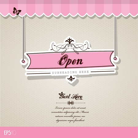 Vintage vector background with place for your text. Stock Vector - 10933880