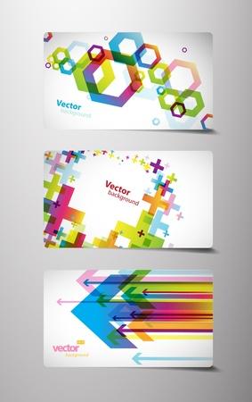 flechas: Conjunto de tarjetas de regalo con s�mbolos. Vectores