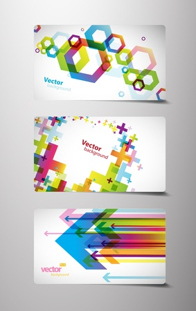 Set of gift cards with symbols.