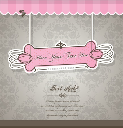 opening party: Vintage vector background with place for your text.  Illustration