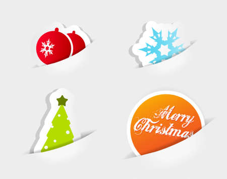 Christmas colored symbols. Vector