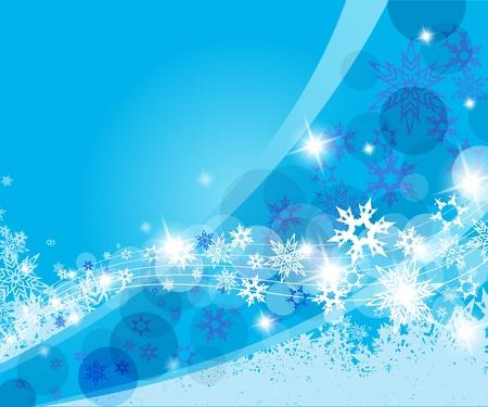Weihnachten blauen Hintergrund mit Schneeflocken.