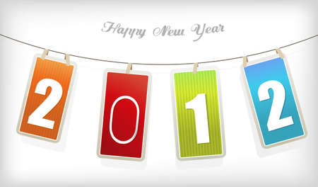 New year card. art Stock Vector - 11254636