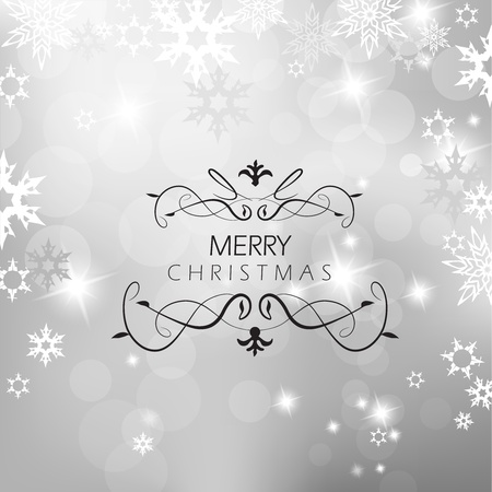 Christmas silver background with snow flakes. Stock Vector - 11254651