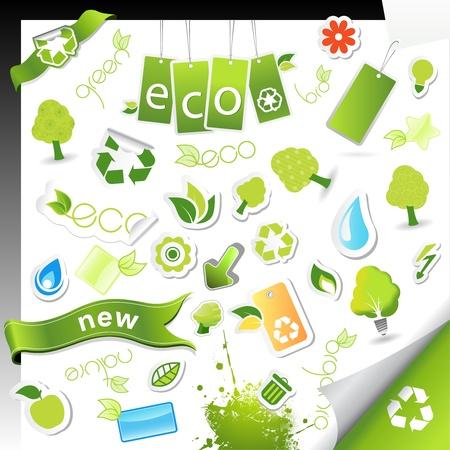 Set of ecology,bio and health symbols.