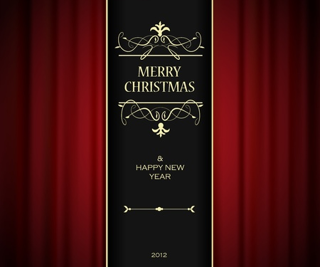 Christmas invitation card. Stock Vector - 11382880
