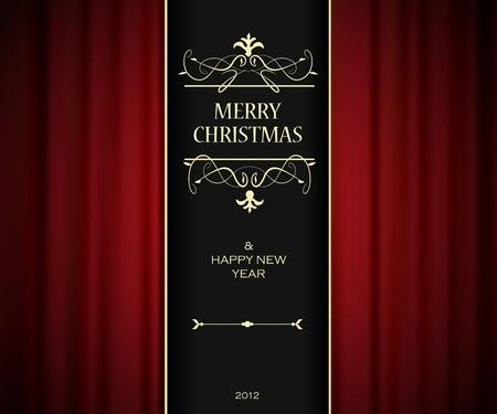 inbjudan: Jul inbjudningskort. Illustration