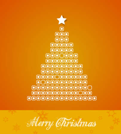 Christmas tree created from dots. Vector