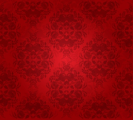 Abstract flower seamless background. Illustration