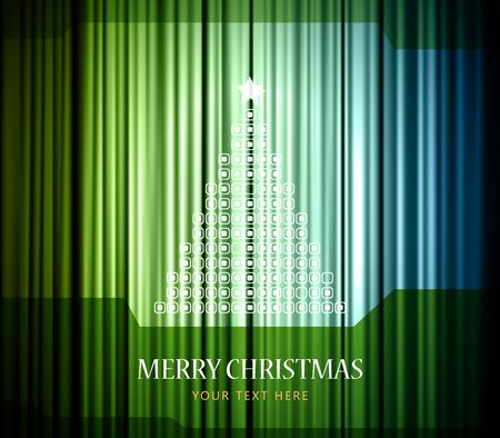Christmas background with curtain. Vector